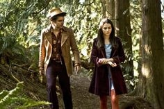 Syfy miniseries, Alice. The only instance deep purple, sky ble, and maroon red could be worn together and still look good.