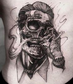Shark Tattoos, Skull Tattoos, Body Art Tattoos, Tattoo Drawings, Girl Back Tattoos, Lower Back Tattoos, Tattoos For Guys, Picture Tattoos, Tattoo Photos