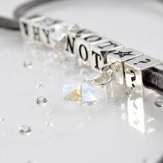 Necklace WHY NOT with SWAROVSKI ELEMENTS crystal pendant, silver version http://store.lovya.net/letters-from-your-heart-lovya/355-naszyjnik-why-not-charm-wiszacy-i-charm-z-4-krysztalami-swarovski-elements-wersja-srebrna.html