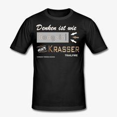 Denken ist wie Googeln FTD - Männer Slim Fit T-Shirt