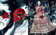 Garden Of Earthly Delight Daria Strokous by Emma Summerton for Vogue China Collections SS 2013 [Editorial] - Fashion Copious