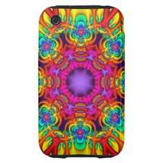 Abstract fractal kaleidoscope iPhone 3 case