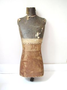 Antique Dress Form MannequinIndustrial Chic High by BeatriceInBlue,