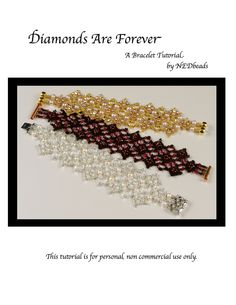 Bracelet Tutorial - Diamonds Are Forever must try! @KD Eustaquio at eCrafty.com #ecrafty #diybracelets #braceletsupplies