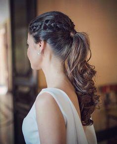 Coleta y trenzas para un peinado elegante y actual. #peinados #novia