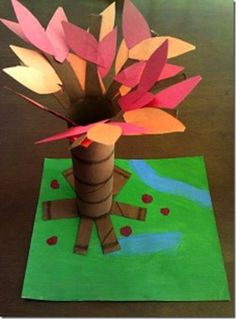 Fall Tree Craft: Guest Post on B-Inspired, Mama! - All Done Monkey Fall Tree Craft: Guest Post on B-Inspired, Mama! Kids Crafts, Fall Crafts For Kids, Tree Crafts, Toddler Crafts, Crafts To Do, Preschool Crafts, Art For Kids, Harvest Crafts For Kids, Leaf Crafts