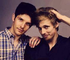 Colin Morgan and Bradley James ~ Merlin, one of my favorite tv shows!!, i love bradley james :)