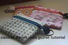 Easiest zipper coin purse tutorial perfect for kids on AveryLaneSewing