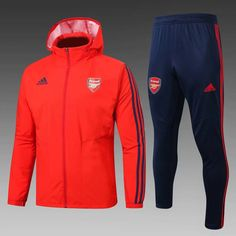 Arsenal Red Hoodie Men Windbreaker Suit Item Specifics Brand: Adidas Gender: Men's Adult Model Year: Material: Polyester Type of Brand Logo: Embroidered Type of Team Badge: Embroidered Premier League, Football Jackets, Football Shirts, Red Hoodie Men, Windbreaker Jacket, Hooded Jacket, Red Trench Coat, Team Uniforms, Shopping