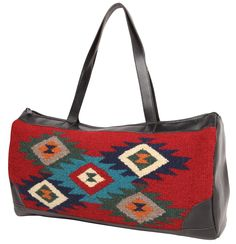 """El Paso Designs Extra Large Tote Bag, Woman's. Zapotec & Mayan Designs, Hand Crafted wool. """"Deep, rich colors and the bag is exactly the size I imagined it (shoulder strap 'drop' is perfect)!"""""""