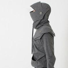 Grey Knight Hoodie Arthur Knight Medieval Armor Pullover Hoodie(100% Handmade Wool) Made To Order