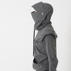 Grey Knight Hoodie Arthur Knight  Medieval Armor Pullover Hoodie(100% Handmade Wool) Made To Order
