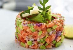 Lachs-Avocado-Tatar #rezept #fisch