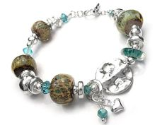 Lampwork Glass Bracelet - Paisley