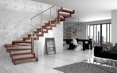 Deco Salon Avec Escalier Beautiful Unique Id Es Escalier Design, Design Moderne, Good Company, Bed Design, Stairways, Planer, Modern Design, Home Decor, Dressing Design
