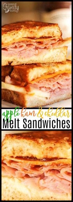 healthy recipes illustration description apple ham and cheddar melt sandwiches aren t your average ham cheddar melts brie cheese apples and apple