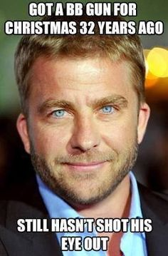 "Peter Billingsley All grown-up. Best known and loved for his role as ""Ralphie:- in the Christmas Story.~ Who would have guessed that Ralphie would grow up so handsome! Peter Billingsley, Stuff And Thangs, Gorgeous Eyes, Famous Men, A Christmas Story, Black Christmas, Xmas, Attractive Men, His Eyes"