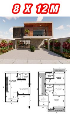 Narrow House Plans, Simple House Plans, Beautiful House Plans, New House Plans, Villa Design, Modern House Design, Home Building Design, Building A House, Small House Exteriors