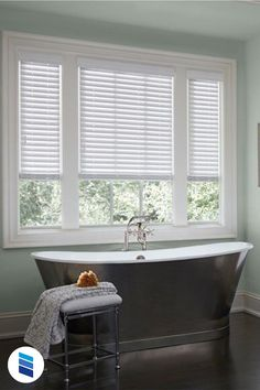 We'll show you the best (and the worst) blinds or shades for sink and tub windows! Woven Wood Shades, Bamboo Shades, Window Blinds & Shades, Blinds For Windows, Window Over Sink, Vinyl Mini Blinds, Best Blinds, Bathroom Window Treatments, Fabric Blinds