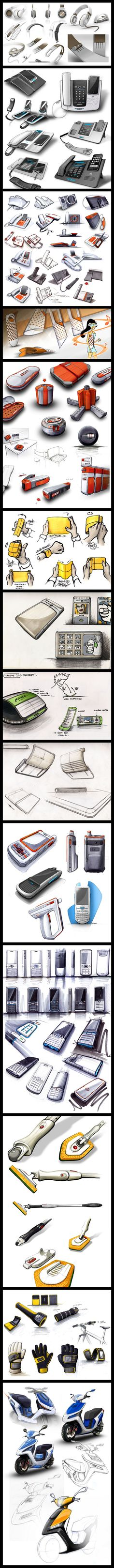 Sketchbook samples by jules parmentier, via Behance.