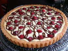 Thibeault's Table The Recipe Collection: White Chocolate Cream Cheese Raspberry Tart