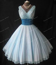 Blue Bridesmaid Dresses Short Bridesmaid Dresses by chiffondresses, $87.00