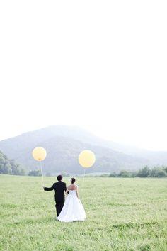 yellow balloons.