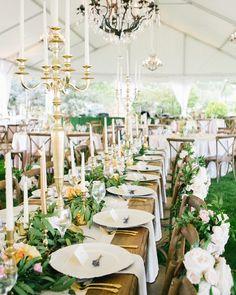 How dreamy is this tablescape?! We're obsessed!  #theknot  via @kerinsa | Planner: @wetietheknots | Florals: @coricookfloraldesign @designworksevents via @angela4design