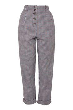 PETITE Mini Check Mensy Trousers