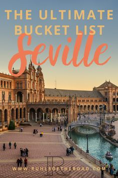The ultimate Seville Spain bucket list for a Spain vacation travel guide. Use this Spain itinerary to see Spanish architecture, learn Spain culture, & explore Alcazar Seville. Spain travel tips…More Spain Travel Guide, Europe Travel Tips, Travel Advice, Travel Destinations, Expedia Travel, Travel Flights, Best Travel Guides, Travel List, Travel Hacks