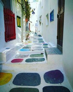 Ios island, Cyclades, Greece Crazy Paving, Island Map, Paradise On Earth, Greece Islands, Unique Architecture, Turkey Travel, Classic House, Greece Travel, Best Vacations