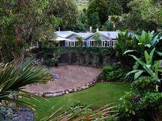 Waiheke Luxury Accommodation For Luxurious Retreat - Kauri Springs Lodge Waiheke Island, Luxury Accommodation, Tropical Garden, Auckland, Garden Landscaping, New Zealand, Trip Advisor, Places To Go, Mansions