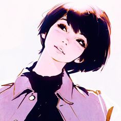 Anime picture original ilya kuvshinov single blush short hair black hair simple background white background looking away light smile black eyes parted lips head tilt portrait girl 509975 en Manga Drawing, Manga Art, Character Inspiration, Character Art, Character Illustration, Illustration Art, Illustrations, Kuvshinov Ilya, Drawn Art