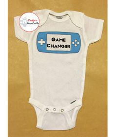Game Changer Baby Onesie Video Game Baby by MarilynsDiaperCastle