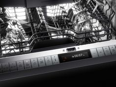 The clearly designed control panel with TFT display permits intuitive operation of all functions. Eight programmes of the dishwasher 400 series can be easily combined with up to six options like 'Power' or 'Intensive'.