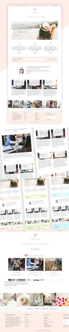 Flamingo Theme (Spanish). WordPress Blog Themes