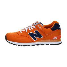 New Balance 574 (Pique Polo) Trainers Orange Navy   Men s New Balance  Trainers   add3035b3fc6