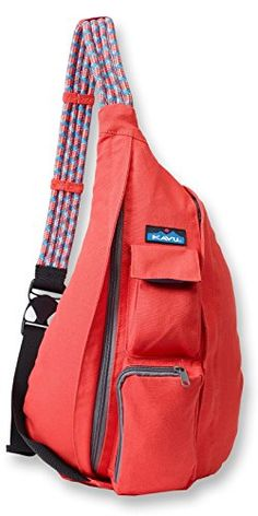 Kavu Rope Bag - Sling Pack Backpack - New Spring 2016 Variations Avalible One Shoulder Backpack, Shoulder Sling, Shoulder Bags, Messenger Bag Backpack, Red Backpack, Men's Backpacks, Bag Accessories, Purses And Bags, My Style