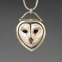 Owl Jewelry, Handcrafted Silver Jewelry Pendant