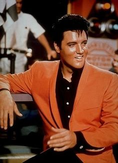 The man looked great in orange, actually in any color