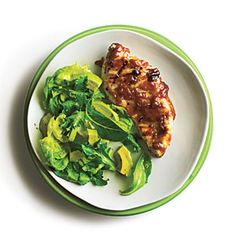 RICH in CARBOHYDRATES; POOR in FAT -- Grilled Chicken with Bourbon Peach Butter