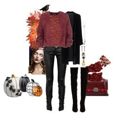 """""""failing into the fall"""" by changinglanez ❤ liked on Polyvore featuring Yves Saint Laurent, Balmain, Jadicted, Improvements, Tom Ford, Black, Christian Louboutin, Alexander McQueen, Lydia Courteille and Alexis Bittar"""