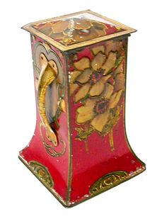 British Biscuit Tin Vintage Tins, Vintage Antiques, Carlisle, Art Nouveau, Art Deco, Plywood Furniture, Coffee Box, Tin Art, Tin Containers