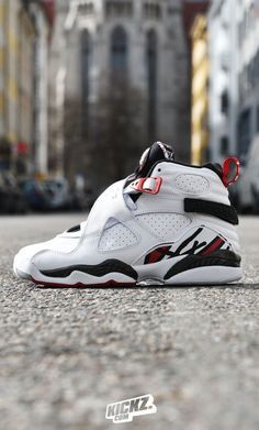 The Air Jordan 8 Retro - Chicago Bulls themed colorway is the 'Alternate' version of the legendary 8