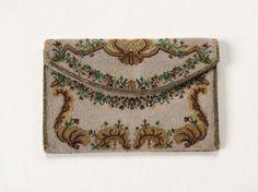 PORTEFEUILLE à soufflet en sablé de perles France vers 1740 Louis XV | eBay