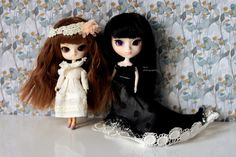 Little Dal/Docolla Risa Sweet Girl and Little Pullip Black Diamond Sweet Girls, Black Diamond, Elsa, Disney Characters, Fictional Characters, Kitty, Dolls, Disney Princess, Art