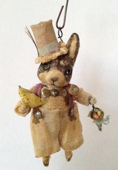 Country Gentleman Rabbit - Spun Cotton by Arbutus Hunter