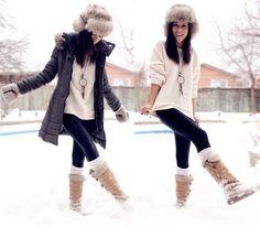 I love the hats! I like fire nj...Cute-fashion-girl-girlfriends-snow-favim.com-304836_large