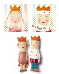 Royal rattle dolls  http://knuffelsalacarteblog.blogspot.nl/