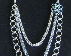 Three Weave Chainmaille Necklace